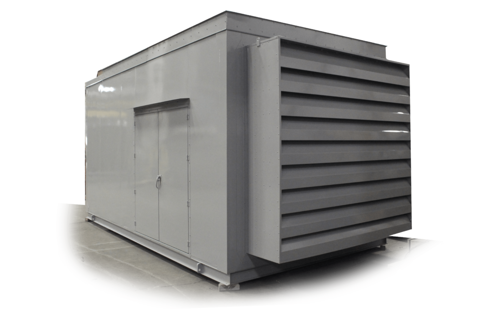 Precision Quincy Industries Custom Generator Enclosure Transparent Background