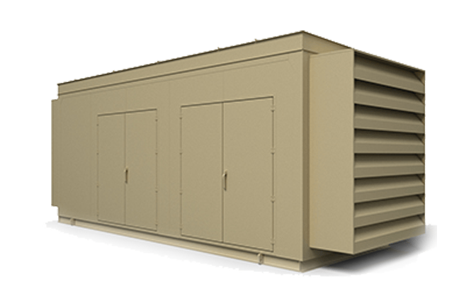 Precision Quincy Industries Pre-Engineered Generator Enclosure Transparent Background